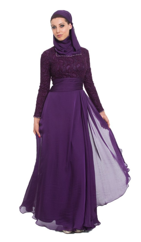 Azza Purple Formal Long maxi dress
