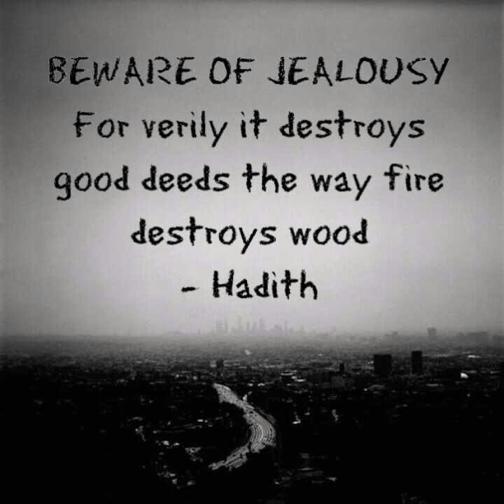 Hadith - Beware of Jealousy