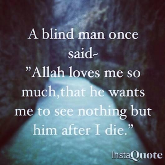 Islam Quote Blind