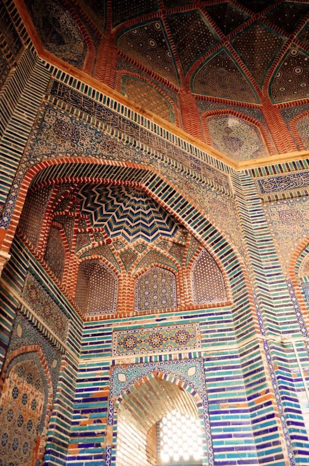 Islamic Tiles at Shah Jahan Mosque in Thatta