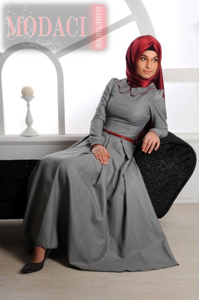 muslim women fasion gray