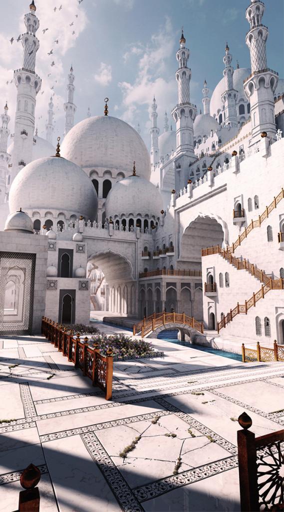 3dart-mosque