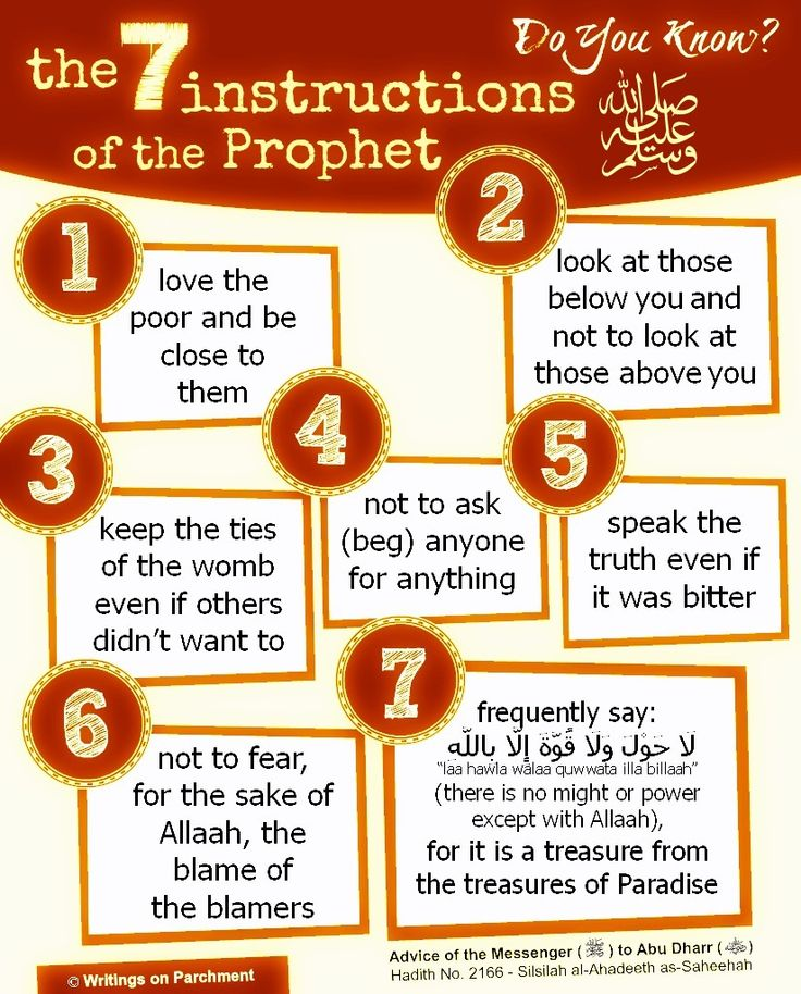 seven-instructions-from-our-prophet
